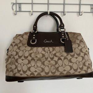 Coach Signature print satchel